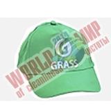 Бейсболка зеленая с логотипом Grass