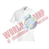 Рубашка поло белая с логотипом Grass